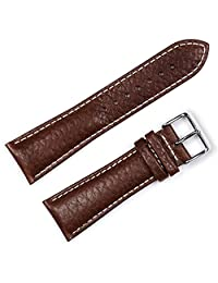 Sport Leather Watchband - Brown 20MM