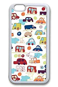Cars Slim Soft For Iphone 4/4S Case Cover Case Hard shell White Cases