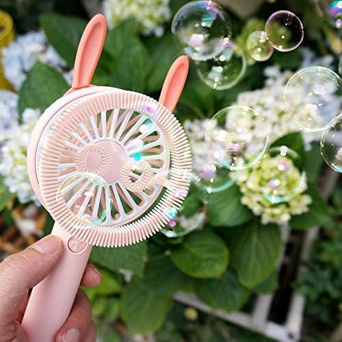 Mini Fan Bubble Machine Handheld Fan Personal Cooling Fan with USB Rechargeable Battery Fan USB Desk Fan Small Portable Table Fan for Travel Office Room Household
