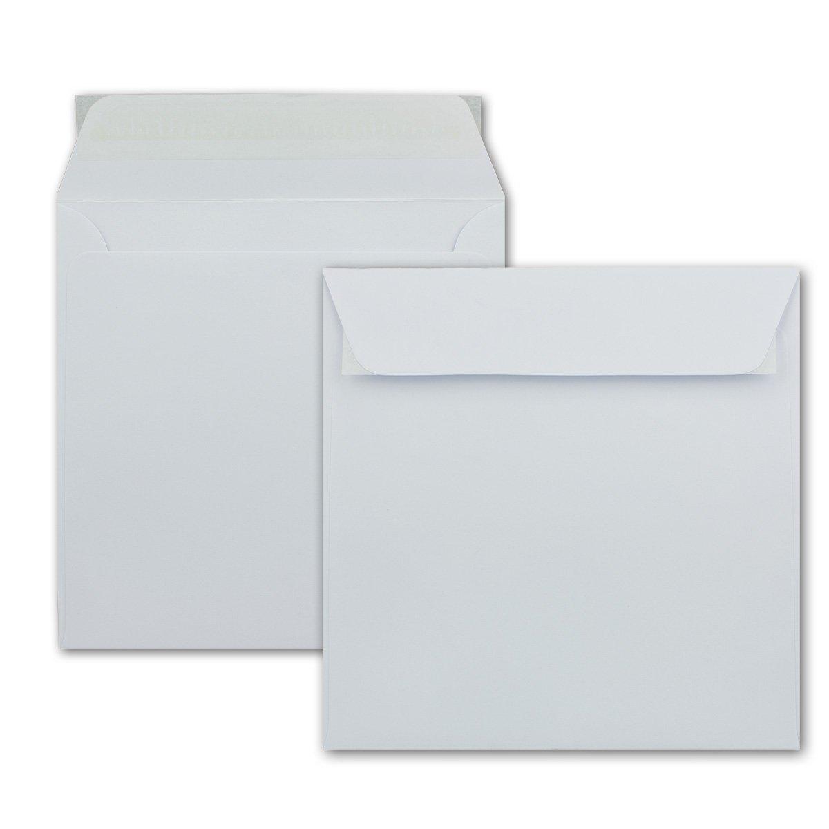 Briefumschläge in Weiss   150 Stück   quadratische KuGrüns 160 x 160 mm (16,0 x 16,0 cm)   Starke Qualität   Haftklebung   ohne Fenster B078WP4RVL | Elegante Form