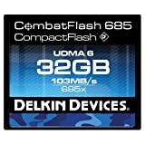 Delkin DDCFCOMBAT685-32GB CombatFlash 685X Rugged and Waterproof Memory Card for Digital Cameras, DSLRs and Camcorders