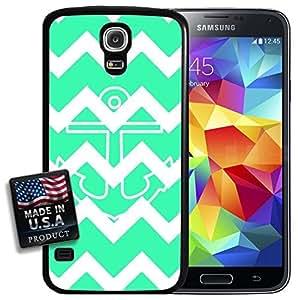Colorful Sea Green Chevron Anchor Galaxy S5 Hard Case