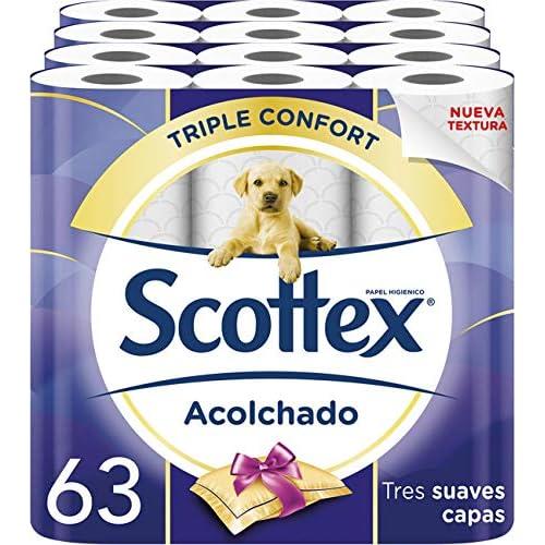 chollos oferta descuentos barato Scottex Acolchado Papel Higiénico 63 rollos