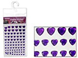 Heart-Shaped Rhinestone Stickers 6 Asst Colors , Case of 288