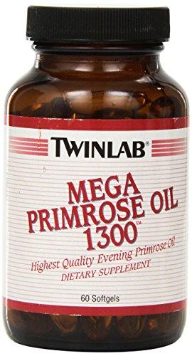 Twinlab Mega Primrose Oil 1300, 60 Softgels (Pack of 2) For Sale