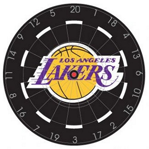 NBA Los Angeles Lakers 18'' Bristle Steel Tip Dart Board-Limited Quantity!! by Imperial