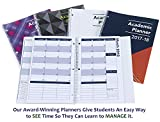2017-2018 Academic Planner, A Tool For Time Management, Best Weekly & Monthly Student Planner For Keeping Students On Track, On Task, On Time, Size 8.5 x 11 - BLUE/ORANGE, FAMILY CHOICE AWARD WINNER