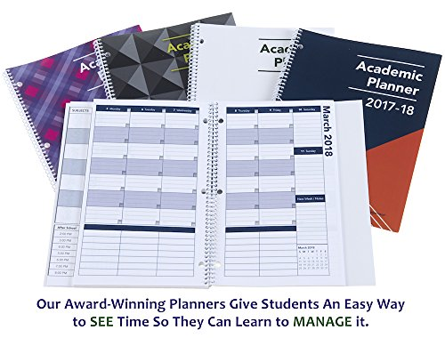 2017-2018 Academic Planner, A Tool For Time Management, Best Weekly & Monthly Student Planner For Keeping Students On Track, On Task, On Time, Size 8.5 x 11, WHITE, FAMILY CHOICE AWARD WINNER (Printable Calendar With Lines To Write On 2017)