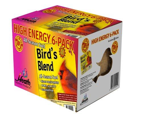 Heath Outdoor Products DD4-6 Birds Blend Suet Cakes, -