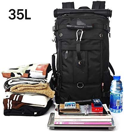 KAKA Travel Backpack, Carry On Backpack Durable Convertible Duffle Bag Fit for 15.6 Inch Laptop for Men and Women(Medium 35L)