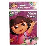 Dora the Explorer 'Flower Adventure' Invitations & Thank You Notes w/ Envelopes (8ct) by Dora the Explorer