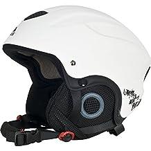 Trespass Adults Skyhigh Protective Snow Sport Ski Helmet (L) (White)