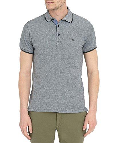 WRANGLER - Herren- Grau meliertes Poloshirt mit Kontrastkragen Refined für herren