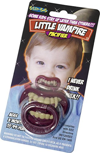 Toddler Vampire Costumes (Billy Bob Teeth 197571 Little Vampire Infant-Toddler Pacifier)