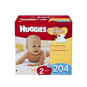Huggies Little Snugglers Diapers Economy Plus, Size 2, 204 Count