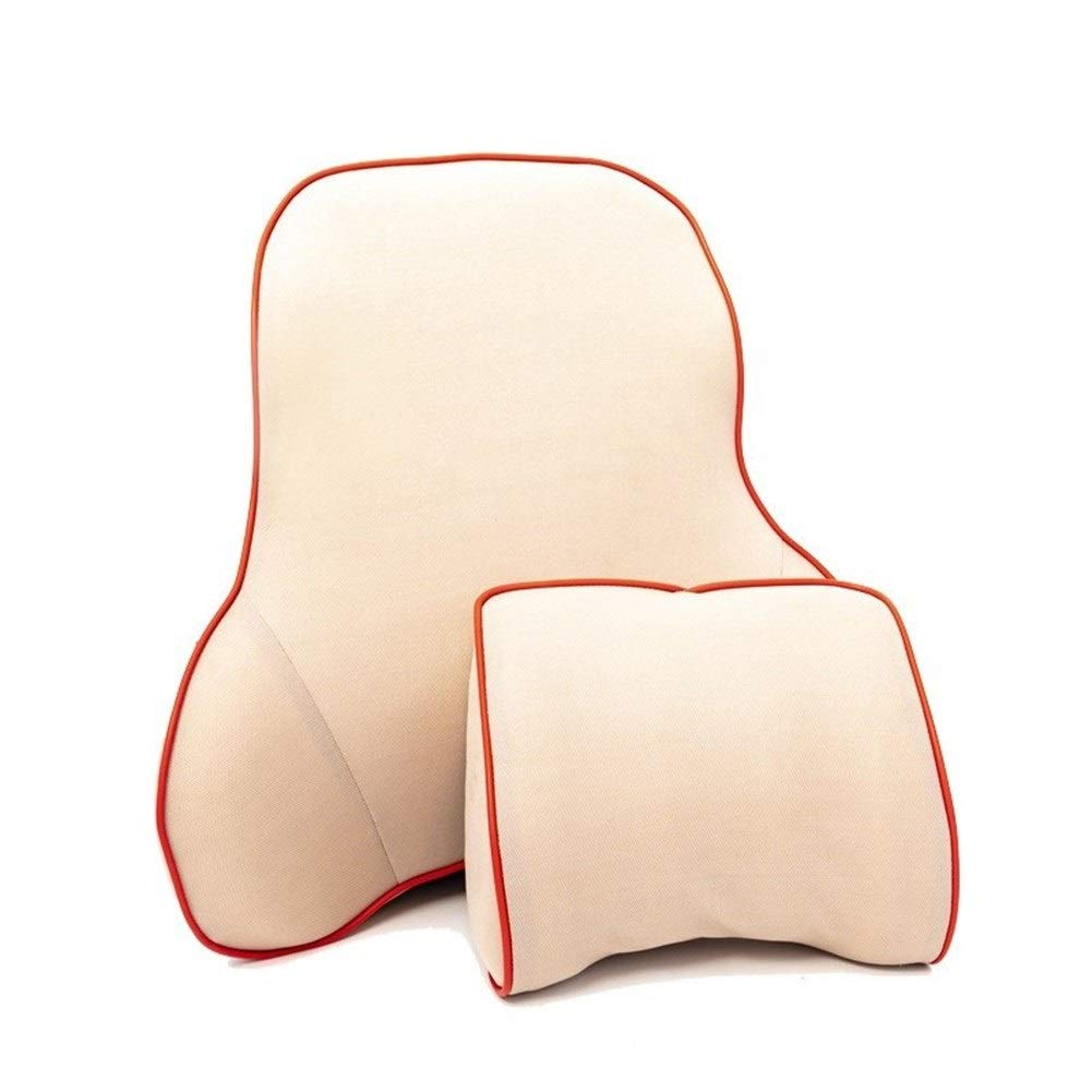 JIEJIEZ Back Support Cushion for Office Chair, Car Alleviates Lower Back Pain (Color : A) by JIEJIEZ