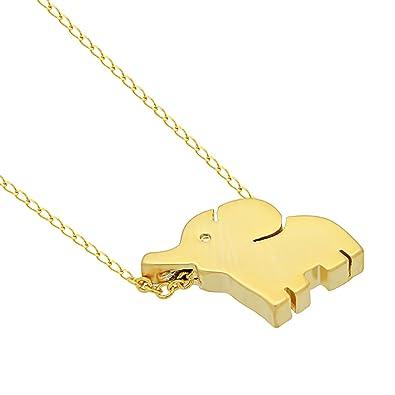Amazon lucky elephant necklace minimalist necklace small lucky elephant necklace minimalist necklace small elephant pendant necklace gold elephant necklace for women aloadofball Images