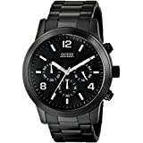 GUESS Men's U15061G1 Black Ion-Plated Chronograph