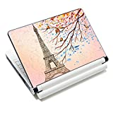 "iColor Laptop Skin Sticker Soft Vinyl Sticker Decal Cover for 12"" 13"" 13.3"" 14"" 15"" 15.4"" 15.6"" Sony HP Asus Acer Toshiba Dell Notebook Eiffel Tower"