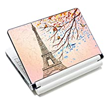 """iColor Laptop Skin Sticker Soft Vinyl Sticker Decal Cover for 12"""" 13"""" 13.3"""" 14"""" 15"""" 15.4"""" 15.6"""" Sony HP Asus Acer Toshiba Dell Notebook Eiffel Tower"""