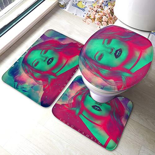 RegGaineyina Becky G Todo Cambio 3-Piece Bathroom Rug Set,Comfortable Bathroom Decor,Bathroom Rug and Mat Set