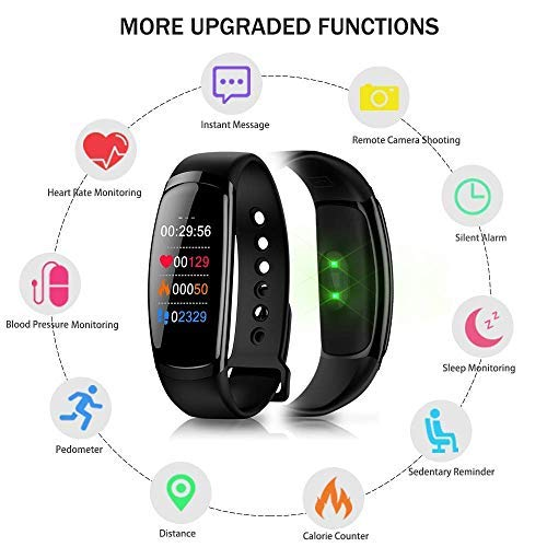 Amazon.com : Uhruolo Fitness Tracker, Pedometer Sports Activity Tracker Bracelet IP67 Waterproof Wireless Smart Wristband Smart Watch Witch Heart Rate ...