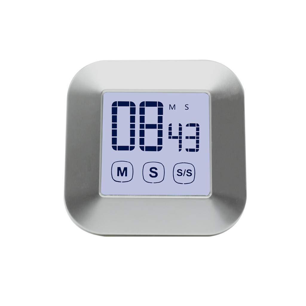 Redvive Top LCD Digital Kitchen Cooking Timer Touchs Screen Count Down Up Loud Alarm Clock