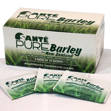 3 Boxes of Sante Pure Barley New Zealand Blend with Stevia - Large Box 30 Sachets Total 90 Grams by Sante Pure Barley New Zealand