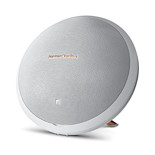 Harman Kardon Onyx Studio 2 Wireless Bluetooth Speaker System with Rechargeable Battery and Built-in Microphone - White - (Certified Refurbished)