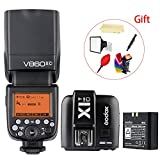 Godox V860II-C E-TTL 2.4G High Speed Sync 1/8000s GN60 Li-ion Battery Camera Flash speedlite light + Godox X1T-C Wireless Remote Flash Trigger Transmitter for Canon EOS cameras