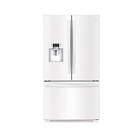 French Door Refrigerator With Bottom Freezer In White