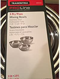 Access Tramontina Stainless Steel Mixing Bowls Set, 3 Pieces compare