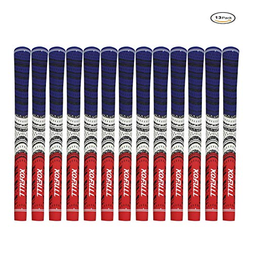 KOFULL Golf Grips, Anti-Slip Multi Soft Rubber Compound Iron Grips Standard Size R60, Set of 13