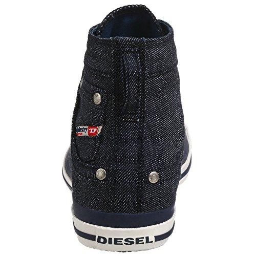 Diesel Exposure Indigo Weiß Herren Canvas Hi Sneakers Schuhe Stiefel