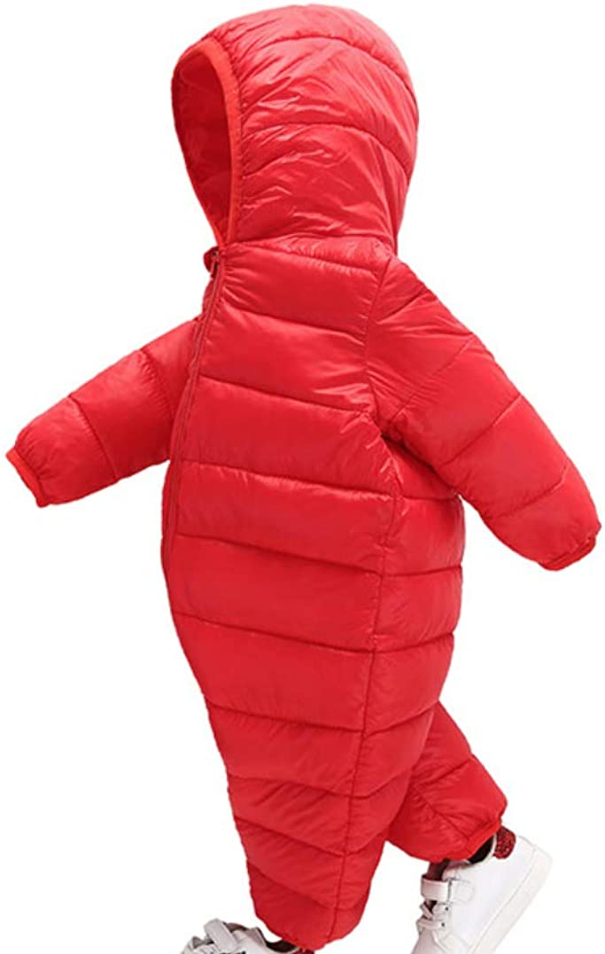 Body Overalls con Cerniera Tuta da Neve con Cappuccio da Bimbo Pagliaccetto Snowsuit MissChild Tuta da Neve per Bambino Ragazze Ragazzi