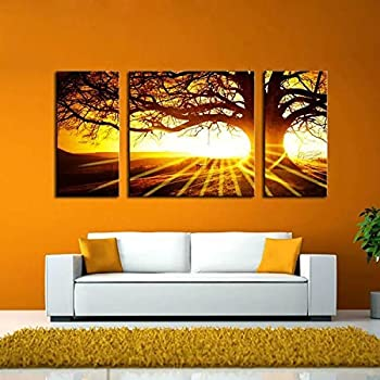 This item BPAGO Landscape Big Tree in Sunset Canvas Paintings Framed Modern  Abstract Paintings Giclee Canvas Paintings Home Decorations Wall. Amazon com  BPAGO Landscape Big Tree in Sunset Canvas Paintings