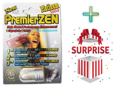 (Premier ZEN Platinum 15000 Male Sexual Performance Enhancer - (3)+(3) Freee Surprise Pills plus love potion pen)