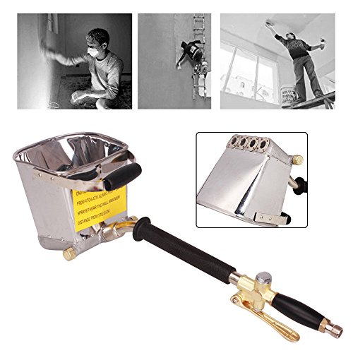 4 Jet Stucco Sprayer, Cement Mortar Sprayer Gun Hopper Gun Plaster Sprayer Wall Painting Tool for Walls and Ceilings DIY USA Stock ()