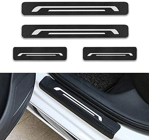 Per J eep Compass Grand Cherokee Renegade Patriot Battitacco Auto Esterno Batticalcagno Adesivi delle Soglie delle Porte Fibra di Carbonio Bianco 4 Pezzi