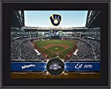"""Milwaukee Brewers 10"""" x 13"""" Sublimated Team Stadium Plaque - MLB Team Plaques and Collages"""