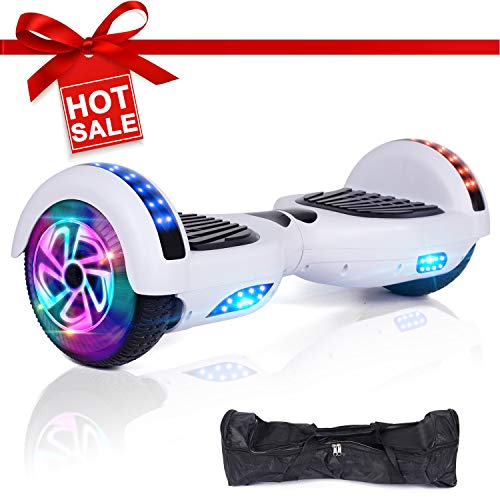 EPCTEK Hoverboard Two-Wheel Self Balancing Electric Scooter Hover Board for Adults Kids UL2272 Certified Smart Scooter with LED Lights Free Carry -