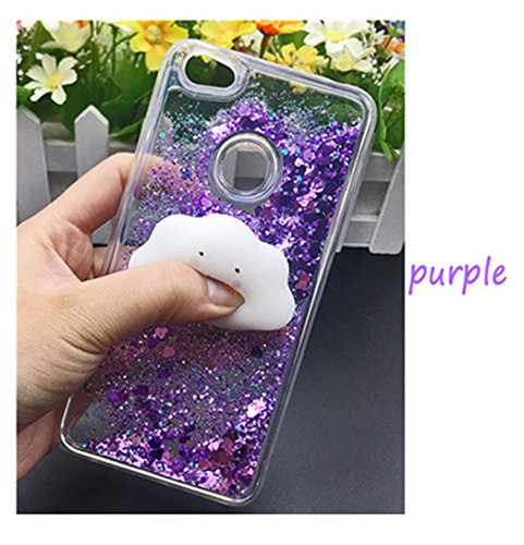 HogontaCute 3D Squishy Cat Case For Xiaomi 5 Mi6 Redmi 4 X 4A Note 4 3 4X Luxury Glitter Quicksand Phone Cases Redmi Note 5A Prime Case Squishy Cat Purplus For Xiaomi Mi A1