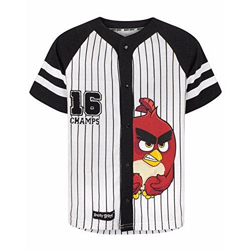 Manches Courtes Blanc shirt Red À Birds Angry noir Garçon T qwU7xB4X