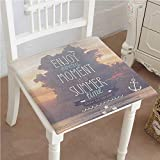 Mikihome Memory Foam Chair Pads Motivational Vacations Getaways Dream Words Timeation Ideas Wall Cushion Perfect Indoor/Outdoor 18''x18''x2pcs
