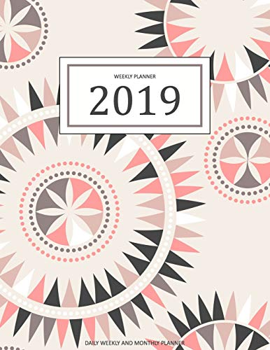 2019 Weekly Planner: A Year - 365 Daily - 52 Week Inspirational Quotes Journal Planner Calendar Schedule Organizer Appointment Notebook, Monthly ... Happiness Gratitude Book - Pink Mandala Cover