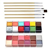CCBeauty Professional Face Paint Oil 24 Colors Body Painting Art Party Fancy Make Up + Brushes Set,#3