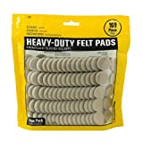 Smart Surface 8727 Heavy Duty Self Adhesive Furniture Felt Pads 1-Inch Round Oatmeal 160-Piece Value Pack in Resealable...