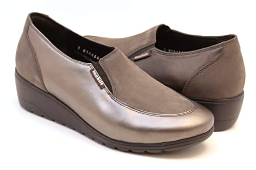 b28cef37f9 MOBILS by MEPHISTO Bertrane Woman Loafers Slip-On with Removable Cork  Footbed 10103-6903 Grey Size: EU 7 ITA 40, 5 USA 9, 5 cm 25, 8:  Amazon.co.uk: Shoes & ...