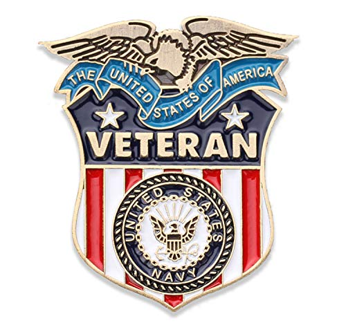Coins For Anything Inc Navy Veteran Lapel Pin - US Navy Veterans Hat Pin - Naval Veteran Pins - Vet Owned Company! Officially Licensed Product