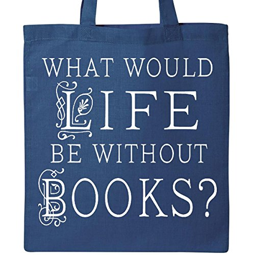 Inktastic - Librarian Book Lover Reading Quote Tote Bag Royal Blue - Bag Royal Book
